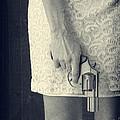 Woman With Revolver 60 X 45 Custom by Edward Fielding