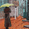 Woman With Umbrella by Robert Yaeger
