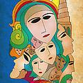 Women from Mesopotamia Print by Qutaiba Al-Mahawili