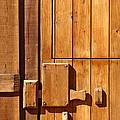 Wooden door detail Print by Carlos Caetano