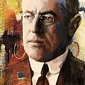 Woodrow Wilson Print by Corporate Art Task Force