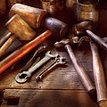 Woodworker - A Collection Of Hammers  by Mike Savad
