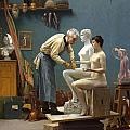 Working In Marble by Jean-Leon Gerome
