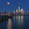 World Trade Center Super Moon by Susan Candelario