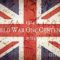 World War One Centenary Union Jack Print by Jane Rix
