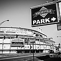 Wrigley Field And Wrigleyville Signs In Black And White by Paul Velgos