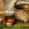 Writer - A Basket And Some Books by Mike Savad