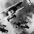 Wwi German British Dogfight by Nypl