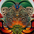 Xiuhcoatl The Fire Serpent by Ricardo Chavez-Mendez