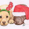 Xmas Pups by Deborah Nicholas