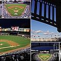 Yankee Stadium Collage Print by Allen Beatty