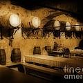 Ye Old Wine Cellar In Tuscany by John Malone