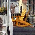 Yellow Adirondack Rocking Chairs by Susan Savad