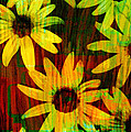 Yellow And Green Daisy Design by Ann Powell