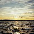 Yellow Sunrise In Manhassett Bay by John Telfer