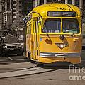 Yellow Vintage Streetcar San Francisco by Colin and Linda McKie