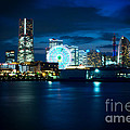 Yokohama Minatomirai At Night by Beverly Claire Kaiya