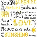 You Are My Sunshine Poster by Jaime Friedman