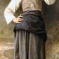 Young Girl Going to the Fountain Print by William Bouguereau