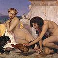 Young Greeks Attending A Cock Fight by Jean Leon Gerome