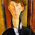 Young Man With Cap by Amedeo Modigliani