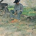Young Routy At Celeyran by Henri de Toulouse-Lautrec