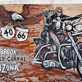 Young's Corral In Holbrook Az On Route 66 - The Mother Road by Christine Till