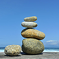 Zen Stones I Print by Marianne Campolongo