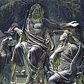 Zeus Bronze Statue Dresden Opera House Print by Jordan Blackstone