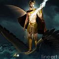 Zeus King of the Gods Print by Creative Sunny