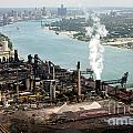 Zug Island Industrial Area Of Detroit by Bill Cobb