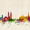 Zurich Switzerland Skyline by Michael Tompsett