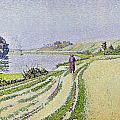 Herblay La River  by Paul Signac