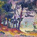 A Pine Grove Print by Henri-Edmond Cross