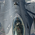 A U.s. Air Force F-16c Fighting Falcon by Giovanni Colla