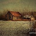 Abandoned Barn After The First Snow by Sandra Cunningham