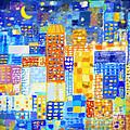 abstract city Print by Setsiri Silapasuwanchai
