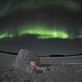 Aurora Borealis Over An Igloo On Walsh by Jiri Hermann
