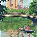 Bow Bridge In Central Park by Mitch Frey