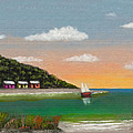 Canary Cove Print by Gordon Beck