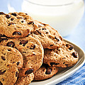 Chocolate Chip Cookies And Milk by Elena Elisseeva