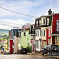 Colorful Houses In Newfoundland by Elena Elisseeva