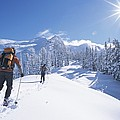 Cross-country Skiers In The Selkirk by Jimmy Chin