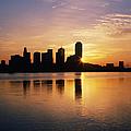 Dallas Skyline At Dawn by Jeremy Woodhouse