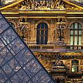 Detail Of The Glass Pyramid Outside The Print by Axiom Photographic