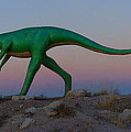 Dinosaur Loose On Route 66 by Mike McGlothlen
