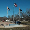 Flags With Blue Sky by Kip DeVore