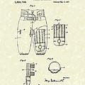 Football Pants 1917 Patent Art by Prior Art Design