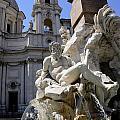 Fountain. Piazza Navona. Rome by Bernard Jaubert