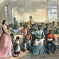 Freedmens School, 1866 by Granger